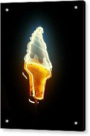 Low Angle View Of Ice Cream Neon Sign Acrylic Print by Scott Crayne / Eyeem