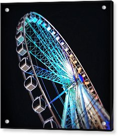Low Angle View Of Illuminated Ferris Acrylic Print by Kenneth Shelton / Eyeem