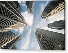 Low Angle View Of Modern Office Acrylic Print by Thant Zaw Wai