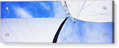 Low Angle View Of Sails On A Sailboat Acrylic Print