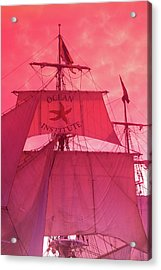 Low Angle View Of Tall Ship Acrylic Print