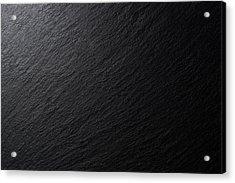 Low Lighting Black Slate Texture Acrylic Print by MirageC