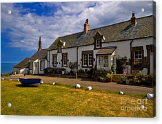 Low Newton By The Sea Acrylic Print by Louise Heusinkveld