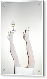 Low Section Of Woman Balancing Wine Acrylic Print by Kostis Fokas / Eyeem
