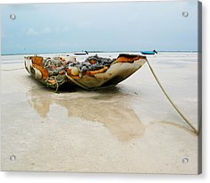 Low Tide 2 Acrylic Print by Sarah-jane Laubscher