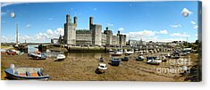 Low Tide At Caernarfon Acrylic Print