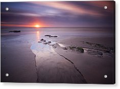 Low Tide At Glyne Gap Acrylic Print by Mark Leader