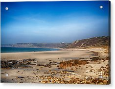 Low Tide At Sennen Cove Acrylic Print by Chris Thaxter