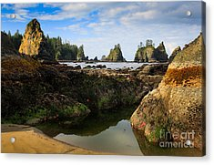 Low Tide At The Arches Acrylic Print