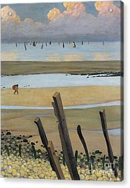 Low Tide At Villerville Acrylic Print