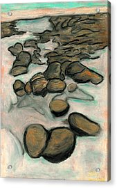 Low Tide Acrylic Print by Carla Sa Fernandes