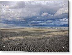 Low Tide Sandscape Acrylic Print by Roxy Hurtubise