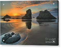 Low Tide Giants Acrylic Print by Adam Jewell