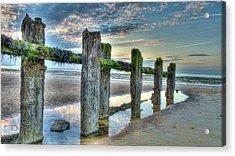Low Tide Groynes Acrylic Print