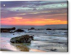 Low Tide In Newport Beach Acrylic Print by Eddie Yerkish