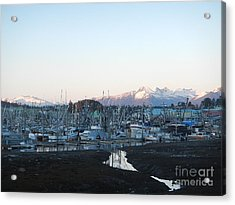 Low Tide In Winter Acrylic Print