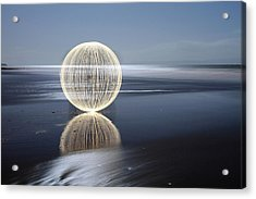 Low Tide Reflection Acrylic Print by Andrew John Wells