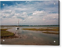 Acrylic Print featuring the photograph Low Tide by Shirley Mitchell