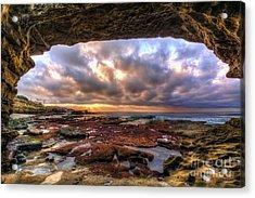 Low Tide Sunset In La Jolla Acrylic Print