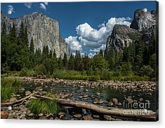Low Water On The Merced Acrylic Print