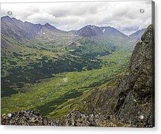 Lowe Peak From Flat Top Acrylic Print by Saya Studios
