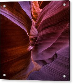 Lower Antelope Canyon Arizona - Square Acrylic Print by Larry Marshall