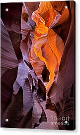 Lower Antelope Glow Acrylic Print by Jerry Fornarotto