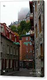 Lower City Quebec Acrylic Print by Tannis  Baldwin