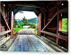 Lower Covered Bridge Acrylic Print by John Nielsen