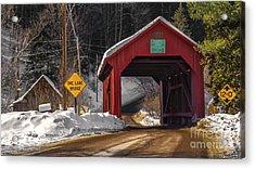 Lower Covered Bridge. Acrylic Print