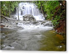 Lower Disharoon Falls Acrylic Print by Bob Jackson