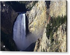 Acrylic Print featuring the photograph Lower Falls by David Andersen