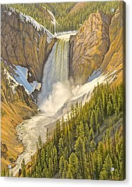 Lower Falls-may   Acrylic Print by Paul Krapf