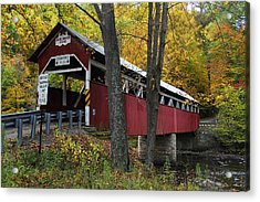 Lower Humbert Covered Bridge Acrylic Print