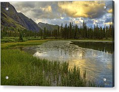 Acrylic Print featuring the photograph Lower Ice Lake by Alan Vance Ley