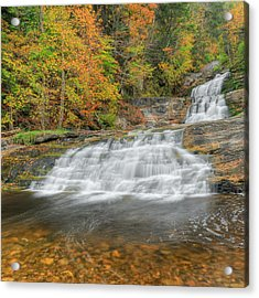 Lower Kent Falls Square Acrylic Print by Bill Wakeley