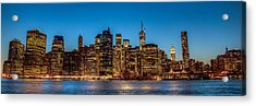 Lower Manhattan At Night Acrylic Print by Chris McKenna
