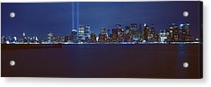 Lower Manhattan, Beams Of Light, Nyc Acrylic Print by Panoramic Images