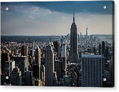 Lower Manhattan Featuring The Empire State Building Acrylic Print