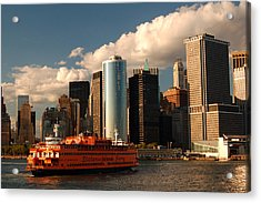 Acrylic Print featuring the photograph Lower Manhattan  by James Kirkikis