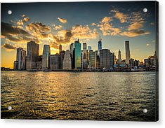 Lower Manhattan Sunset Acrylic Print by Chris McKenna