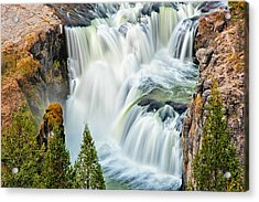 Lower Mesa Falls Acrylic Print by Joan Herwig