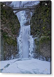 Acrylic Print featuring the photograph Lower Multnomah Falls 120813a by Todd Kreuter