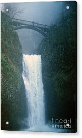 Lower Multnomah Falls Through The Mist Acrylic Print