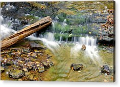 Lower Part Of Au Train Falls Acrylic Print by Optical Playground By MP Ray