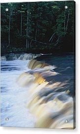 Lower Tahquamenon Falls Acrylic Print by Randy Pollard