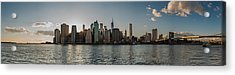 Lowerr Manhattan Panoramic Acrylic Print by Chris McKenna