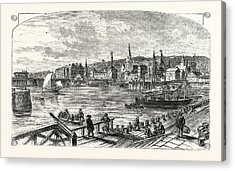 Lowestoft Harbour, Uk, Britain, British, Europe Acrylic Print by English School