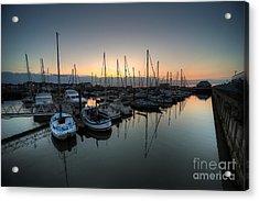 Lowestoft Marina At Dawn  Acrylic Print by Rob Hawkins