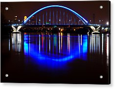 Acrylic Print featuring the photograph Lowry Bridge by RC Pics